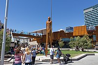 """The """"Wirin"""" sculpture at Perth's Yagan Square"""