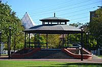 """Russell Square, Northbridge - the favoured meeting place of the Italian community of """"Little Italy"""""""