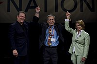 Doggett with Nancy Pelosi and Al Gore at Netroots Nation 2008