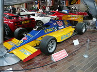 Andretti's first race winning Indy Car, now at National Motor Museum, Beaulieu, England.