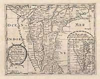 French map of the Deccan.