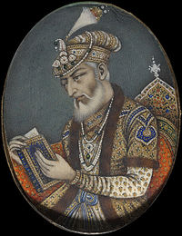 Aurangzeb reciting the Quran.