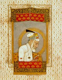 Aurangzeb reading the Quran