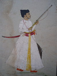 Mughal-era aristocrat armed with a matchlock musket.