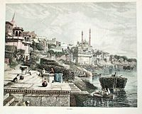 Great Mosque of Aurungzeb and the adjoining Ghats.
