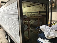 """Deceased in a 53 ft """"mobile morgue"""" outside a hospital in Hackensack, New Jersey"""