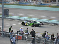 Benson in the Bill Davis Racing No. 36 car at Homestead in 2007, his final career Cup Series start.
