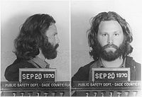 Jim Morrison on the day of his conviction in Miami for profanity and indecent exposure