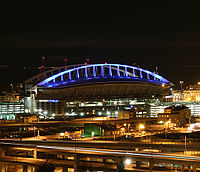 Lumen Field, home of the Seattle Seahawks, Seattle Sounders FC, and Seattle Dragons