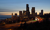 Interstate 5 as it passes through downtown Seattle