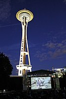 Movie at the Mural, Underneath the Space Needle