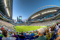 Lumen Field during a Sounders match