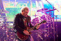 Lifeson during the 2010–2011 Time Machine Tour, Ahoy, Rotterdam, the Netherlands (27 May 2011)