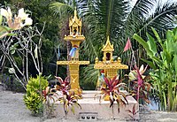Spirit houses are common in areas of Southeast Asia where Animism is a held belief.