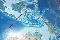 Wallace's hypothetical line divides Indonesian Archipelago into 2 types of fauna, Australasian and Southeast Asian fauna. The deepwater of the Lombok Strait between the islands of Bali and Lombok formed a water barrier even when lower sea levels linked the now-separated islands and landmasses on either side