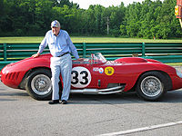 Shelby beside his 1957 Maserati 450S at Virginia International Raceway in 2007.