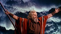 Heston as Moses in Cecil B. DeMille's The Ten Commandments (1956)