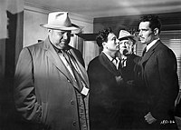 Orson Welles, Victor Millan, Joseph Calleia and Heston in Touch of Evil (1958)