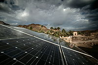 Solar cell panels in eastern Morocco