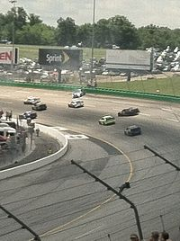 Brad Keselowski goes for a spin that takes out multiple cars at Kentucky Speedway in the 2013 Quaker State 400