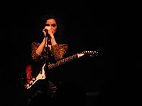 St. Vincent performing at The Button Factory, Dublin in November 2011