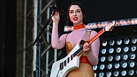St. Vincent performing in 2018