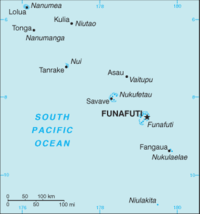 A map of Tuvalu.