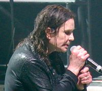 Osbourne singing at Black Sabbath's final performance which took place in their home city Birmingham, February 2017
