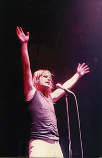 Osbourne performing in Cardiff, Wales in 1981