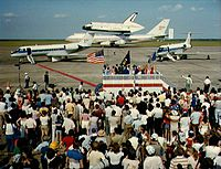 Space Shuttle Challenger at Ellington Field in 1982