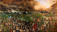 The Battle of San Jacinto-1895 painting by Henry Arthur McArdle
