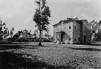 The Widney Alumni House, the campus's first building