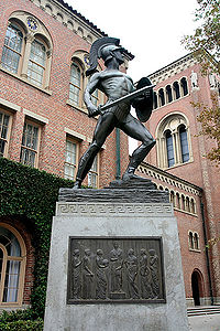 """""""Tommy Trojan"""" is a major symbol of the university, though he is not the mascot."""