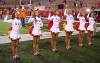 The Song Girls celebrating a USC Trojans football victory
