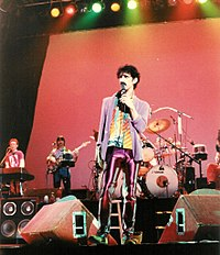 Zappa performing at the Memorial Auditorium, Buffalo, New York, 1980. The concert was released in 2007 as Buffalo.