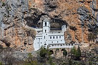 Ostrog Monastery is a well-known place of pilgrimage.