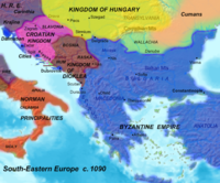 Kingdom of Duklja in the zenith of power, 1080 AD