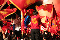 Supporters of Montenegrin independence in June 2006 in Cetinje