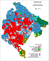 Predominant ethnic group in each municipality of Montenegro, 2011.