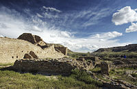 Pueblos and cliff dwellings such as this one in New Mexico were inhabited by people of the Colorado River basin between 2,000 and 700 years ago.
