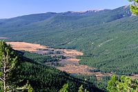 The Kawuneeche Valley, near the headwaters of the Colorado River in Rocky Mountain National Park