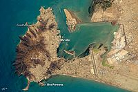 Port of Aden from ISS, 2016