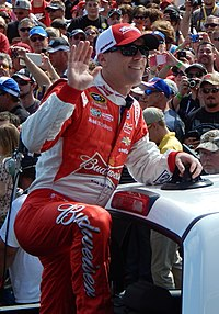 Kevin Harvick, seen here at the 2015 Daytona 500, was awarded the first starting spot after qualifying was rained out.