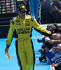 Matt Kenseth left Chicagoland with a two–point lead over Denny Hamlin.