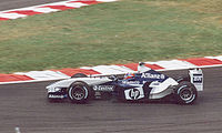Montoya at the 2003 French Grand Prix, a race in which his Williams team finished first and second.