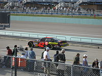 Juan Pablo Montoya practicing for the 2007 Ford 400 at the Homestead-Miami Speedway.
