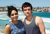 Hutcherson and Journey 2: The Mysterious Island co-star Vanessa Hudgens in Sydney, January 2012