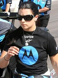 Danica Patrick on Pole Day at Indy, 2007