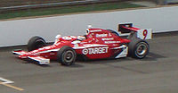Scott Dixon makes his pole-winning qualification run for the 2008 Indianapolis 500.