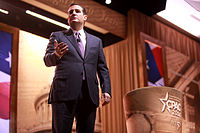 Cruz speaking at the 2014 Conservative Political Action Conference (CPAC) in National Harbor, Maryland